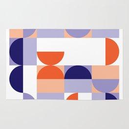 Minimal Bauhaus Semi Circle Geometric Pattern 1 - #bauhaus #minimalist Rug