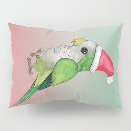 Green Christmas parrot Pillow Sham