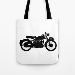 Motor Cycle Silhouette Tote Bag