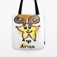 aries Tote Bags featuring Aries by sladja