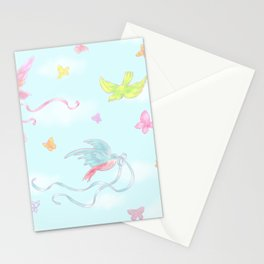 Birds and Butterflies Stationery Cards