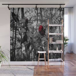 Red Camellia Wall Mural