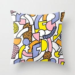 Pastel Sorbet Throw Pillow
