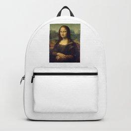 Leonardo da Vinci La Gioconda or The Mona Lisa Backpack