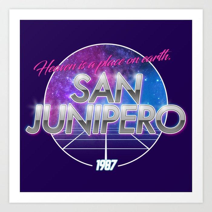 60f75cbd4 San Junipero Black Mirror Poster Print Series 2017 t