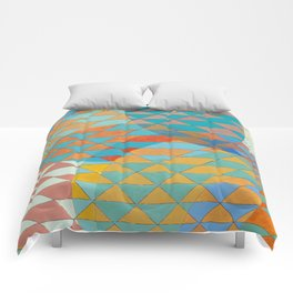 Triangle Pattern No. 11 Circles Comforters
