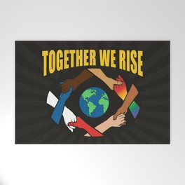 Together We Rise Welcome Mat