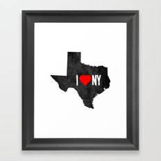 I (Heart) TX Framed Art Print