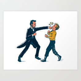 Abe Lincoln VS Captain Kirk Art Print