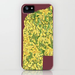 Nebraska in Flowers iPhone Case