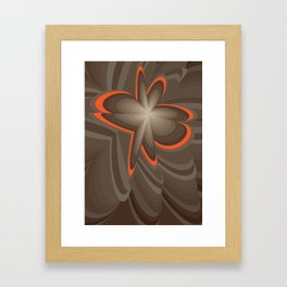 Wood flower 2 Framed Art Print