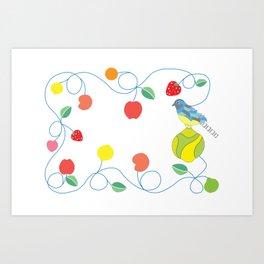 Kitchen trogon Art Print