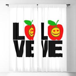 I Love Apple-Eat More Apple-Best Fruit! Blackout Curtain