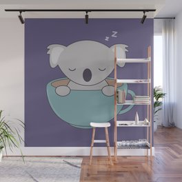 Kawaii Cute Koala Bear Wall Mural