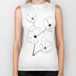 Bloomed Flower Biker Tank