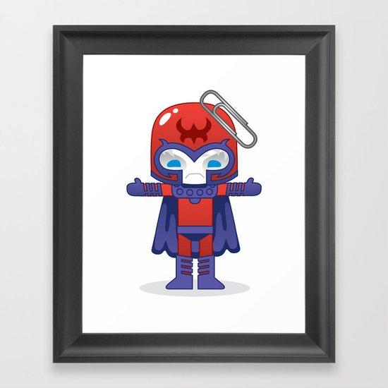MAGNETO ROBOTIC Framed Art Print