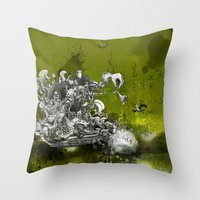 resident evil Throw Pillows featuring Resident by JoeyDrawing