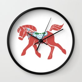 Real Dala Horse #2 Wall Clock