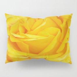 Modern Abstract Seamless Yellow Rose Petals Pillow Sham