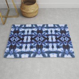 Blue Oxford Shibori Rug
