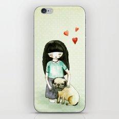 Pug is my best friend iPhone & iPod Skin