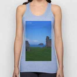 Bass Rock from Tantallon Castle, North Berwick, Scotland Unisex Tank Top