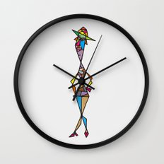 Madam fisherman Wall Clock