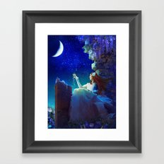 Conversation With The Moon Framed Art Print
