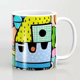 Color Block Collage Coffee Mug