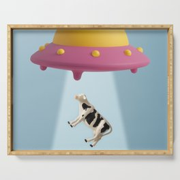 Abducted Cow Serving Tray