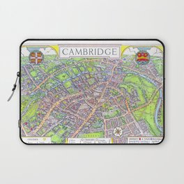 CAMBRIDGE University map ENGLAND Laptop Sleeve