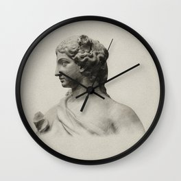 marble statue of spring Wall Clock