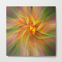 Iris Twirled Metal Print