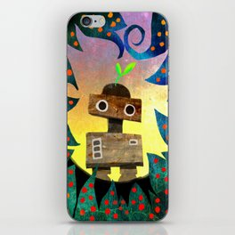Robot in the Forest iPhone Skin