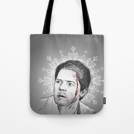 always happy to bleed for the Winchesters Tote Bag