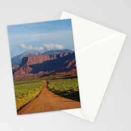 Road Home - Mountains and Desert, Moab Utah Stationery Cards