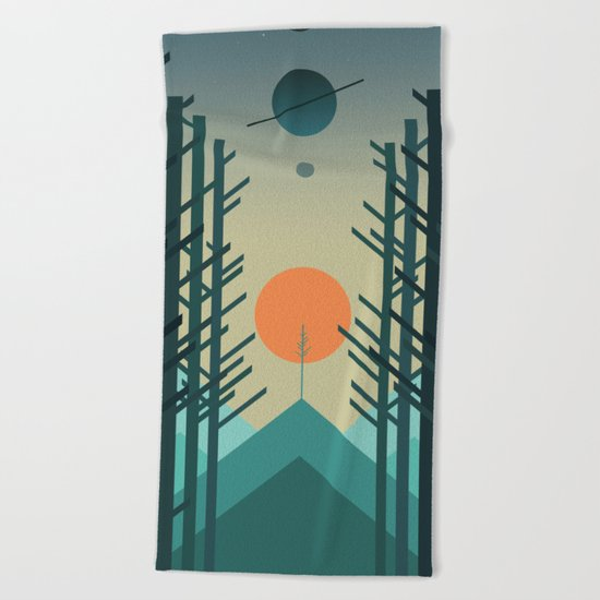 Alignment Beach Towel