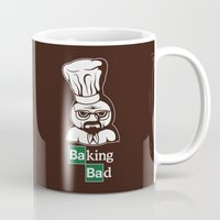 baking Mugs featuring Baking Bad by Mike Handy Art