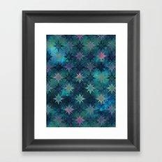 Bohemian Night Skye - Green Framed Art Print