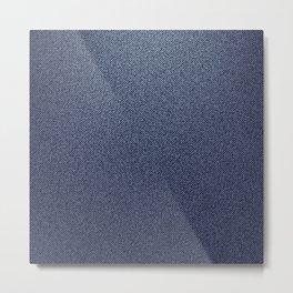 Jeans blue pattern Metal Print