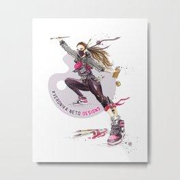 Ninja Artist Metal Print