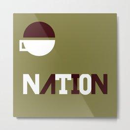 [ one ] nation Metal Print