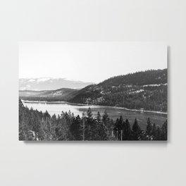 Donner Lake B&W Metal Print