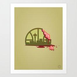 Zombie Sonics Art Print