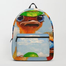 Ostriches friends Backpack