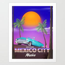 "Mexico City - ""Mexican nights"" version Art Print"