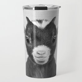 Baby Goat - Black & White Travel Mug
