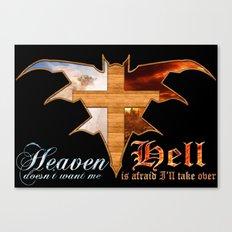 Heaven & Hell Bat Canvas Print