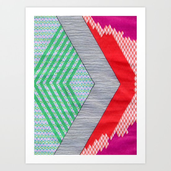 Isometric Harlequin #8 Art Print