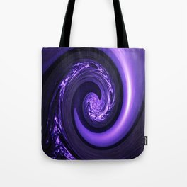 Spiral Vortex Purple G200 Tote Bag
